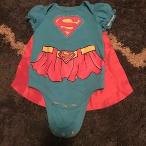 Other - Supergirl onesie with Velcro cape